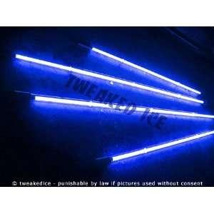 ICE Undercar 4 Pc Car Neon Light Kit Underglow   BLUE Automotive