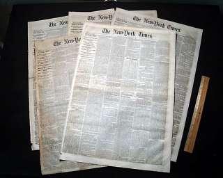 1861 Pre Civil War Newspapers Secession & Pre War Reporting   New