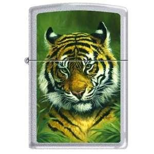 Zippo Custom Lighter   Linda Pickens Artist Tiger Head