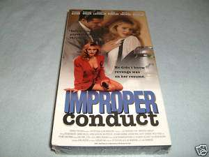 Improper Conduct (VHS, 1994)   TAHNEE WELCH   NEW 723952074836