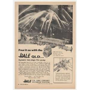 1965 Hale QLD Two Stage Fire Pump Photo Print Ad