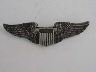 WWII Army Air Force Pilot Wings   3   Sterling   Luxenberg *NR