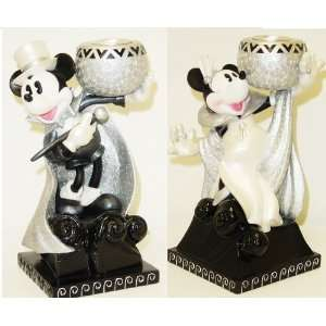 Mickey & Minnie Candle Holder Set ~ Disney / Steppin Out Mickey