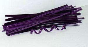500 4 PURPLE METALLIC FOIL TWIST TIES,FOR CELLO BAGS