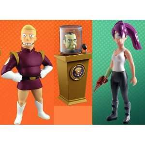Futurama Toynami Set of Both Series 2 Action Figures (Zapp and Leela