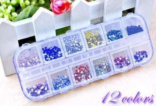 Color Teardrop Nail Art Rhinestones Deco Glitters Gems 12 Colors New