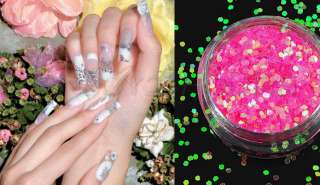 Color Glitter Powder Dust Nail Art Tip Decoration Paillette Spangles