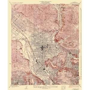 USGS TOPO MAP GLENDALE QUAD CALIFORNIA (CA) 1928