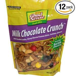 Mix Milk Chocolate Crunch, 8 Ounce Stand up Ziplock Bags (Pack of 12