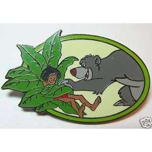 Disney Baloo Putting Mowgli to Sleep Jungle Book Pin