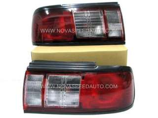91 94~Nissan~Sentra~Tsuru~B13~JDM~Red~Clear~Tail~Lights