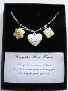 Daughter Love Forever Mother Wishes Pendant Necklace