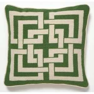 Trina Turk Green Shanghai Links Needle Point Pillow