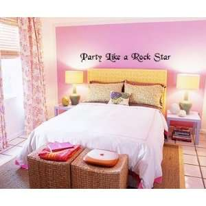 Like a Rock Star Wall Stickers Decal Words Quote
