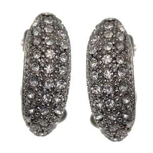 BARINA Silver Tone Crystal Clip On Earrings Jewelry