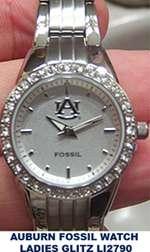 Auburn University Tigers Fossil Charm Bracelet Watch