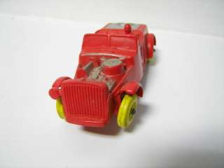 Vintage Auburn Rubber Red Hot Rod Car AS IS