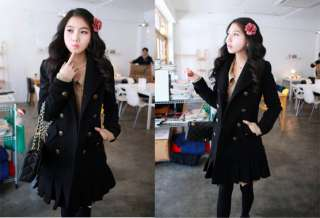 Double Breasted Winter Long Coat Outerwear Trenchcoats 8163
