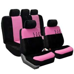 Trendy Pink Seat Covers FB054 Pink/Black 115 Automotive