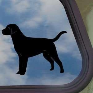 Black Lab Labrador Retriever Dog Black Decal Car Sticker