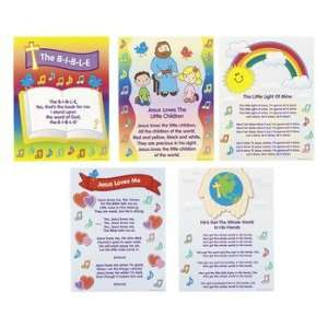 Bible Song Learning Charts   Teacher Resources & Posters