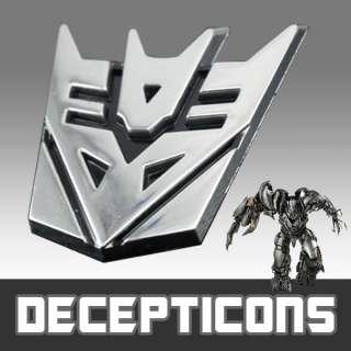 3D Transformer DECEPTICONS Emblem Badge Sticker Decal Chrome Car
