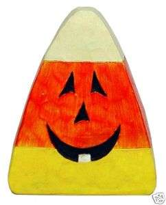 Wood Candy Corn Fall Harvest Autumn Halloween Decor NEW