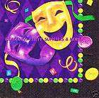 Mardi Gras Comedy Tragedy Masks Lunch Dinner Napkins