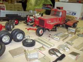 Vintage Tractor Trailer Model Kit Parts Lot AMT Peterbilt Tanker TONS