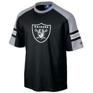 Reebok Oakland Raiders Black Touchback T shirt