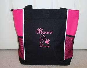 TOTE BAG Personalized Zippered Nurse Nursing RN LVN CNA