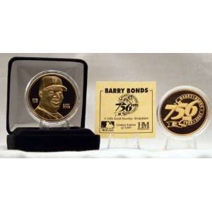 Barry Bonds San Francisco Giants 756th HR 24KT Gold Coin