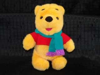 Plush Disney Winnie Pooh Bear Winter Scarf Stuffed Toy