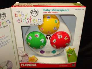 Baby Einstein Baby Shakespeare Find and Rhyme Play System NEW