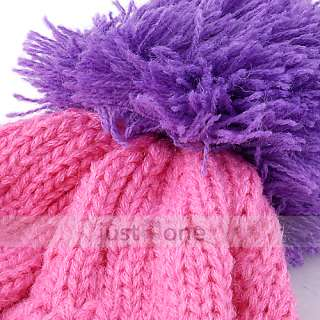 Cute Colors Baby Children Kids Girls Boys Stretchy Warm Winter Cap Hat