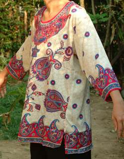 Women Clothing Tunic Top Boho Bohemian Gypsy Oriental Style Comfry