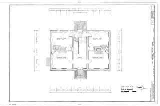 Colonial brick house plan by thomas jefferson unique yet traditional