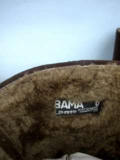 Bama Lams Brown Suede Boots   Size 6