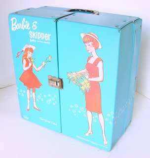 1964 BARBIE & SKIPPER DOLL CARRYING CASE NEAR MINT