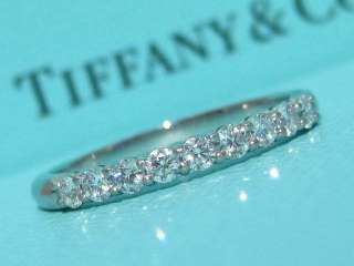 TIFFANY & CO. SHARED SETTING WEDDING PLATINUM DIAMOND BAND RING NEW