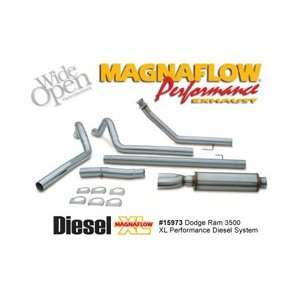 Diesel Dual 4 Inch Turbo Back Exhaust System, for the 2002 Dodge Ram