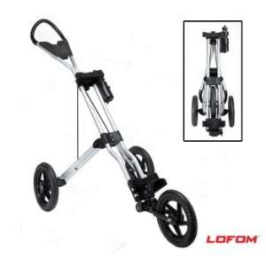 Three Wheel Golf Push Cart   Silver