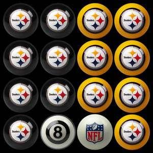 NFL PITTSBURGH STEELERS POOL / BILLIARD TABLE BALL SET
