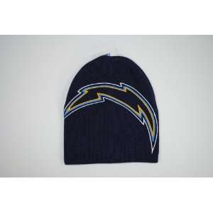 Chargers Navy Blue Big Logo Beanie Cap Winter Hat