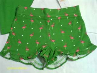 Gymboree NWT Palm Beach Paradise 2 Tanks and flamingo ruffle shorts 3T