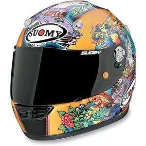 Suomy Vandal Tattoo Helmet   2X Large/Gold Automotive