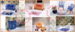 English Version Japanese Bead Craft Pattern Book 3D Beading Dollhouse