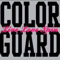 Color Guard Pink/Black Live Love Spin Wall Decal