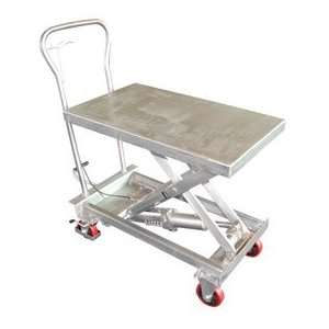 Stainless Steel Hydraulic Elevating Mobile Lift Table 200