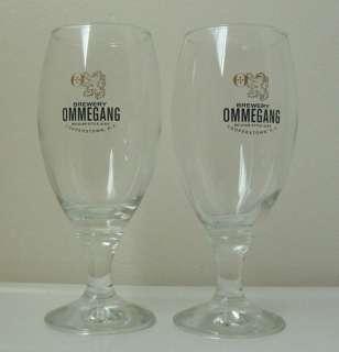 OMMEGANG Belgian Style Ale CHALICE BEER Glasses/PAIR